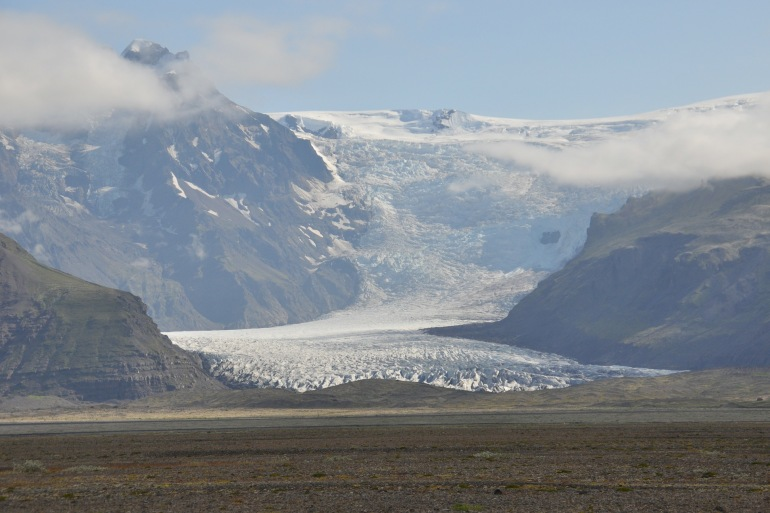 Wonderful Ice View of Glacier Skaftafell, Iceland