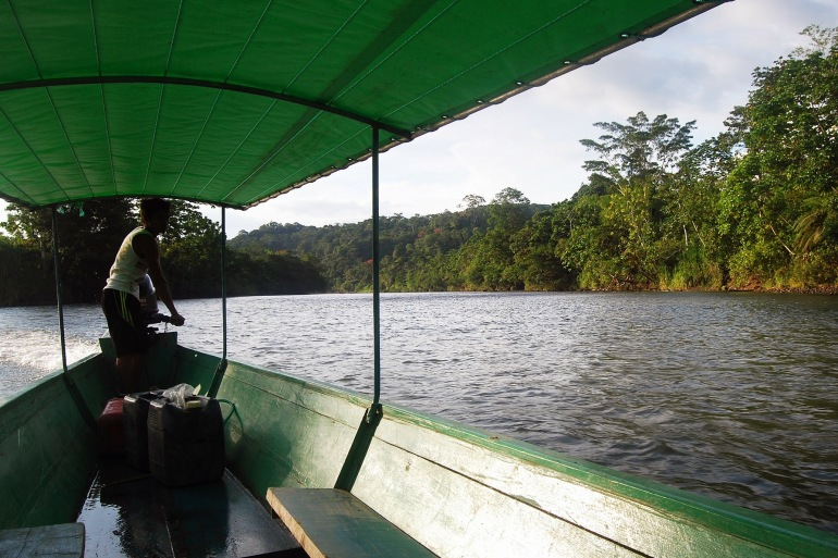 Boat on Amazon river-South America-240499-P