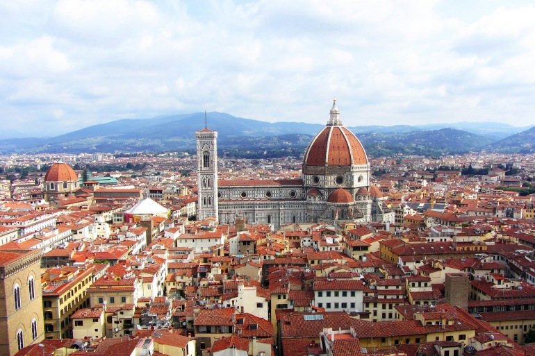 City view of Florence, Italy_P