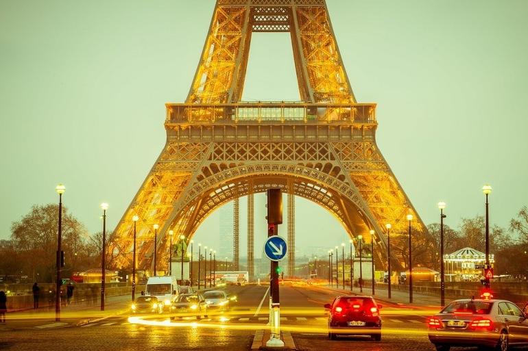 Eiffel Tower on Lights, France