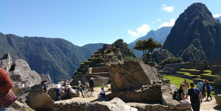 Group of tourists at Machu Picchu
