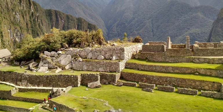 Exploring the ruins of Machu Picchu