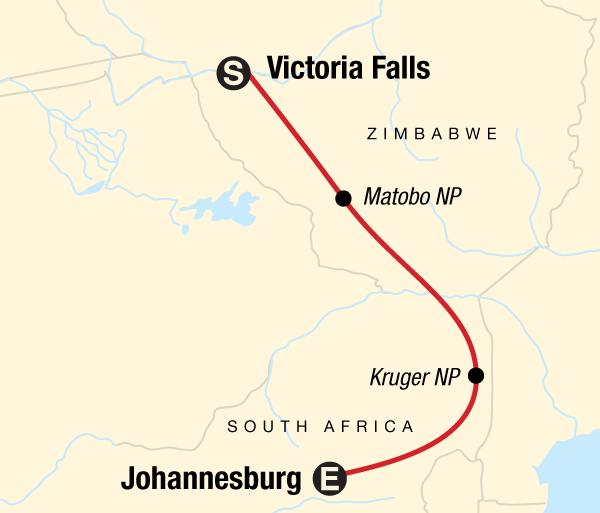 Johannesburg Kruger National Park Kruger, Falls & Zimbabwe Trip