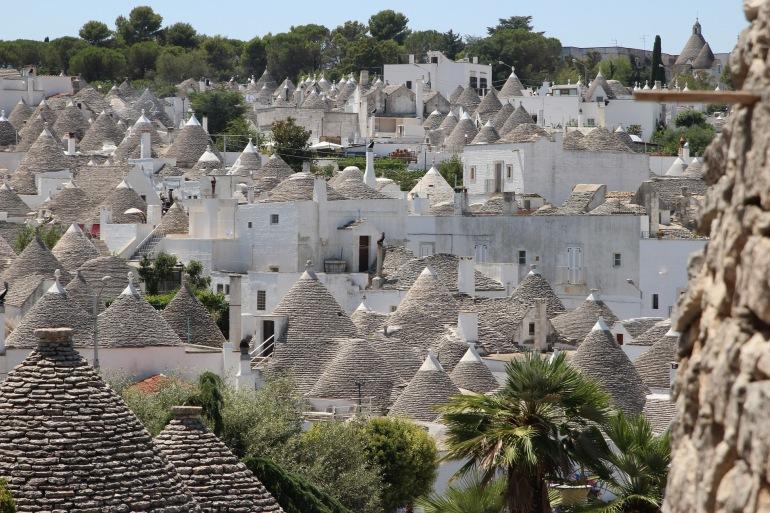 Town view of Alberobello, Italy