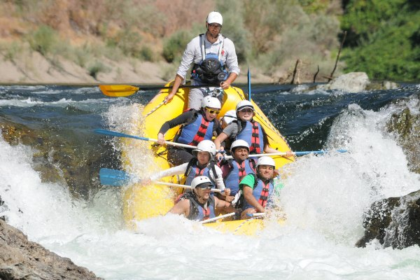 Stride team whitewater rafting