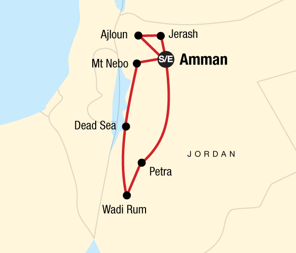 Amman Dead Sea Explore Petra & Wadi Rum Independent Adventure Trip