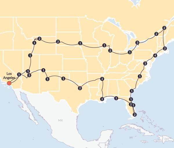 Albuquerque Boston Epic Adventure(Twin Room,Start Los Angeles, End Los Angeles) Trip