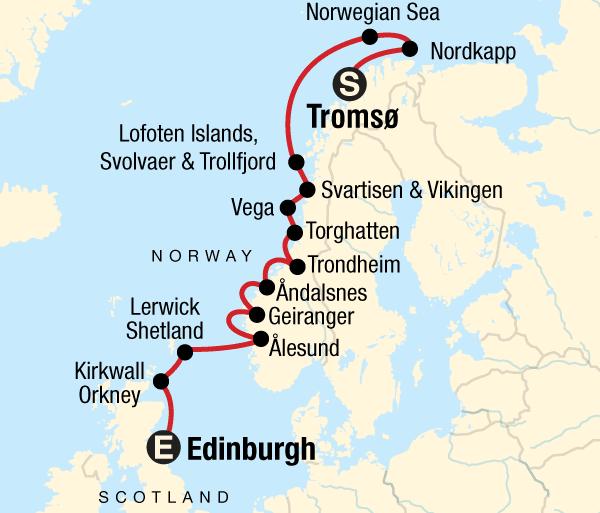 Edinburgh Orkney Islands Cruise the Norwegian Fjords Trip