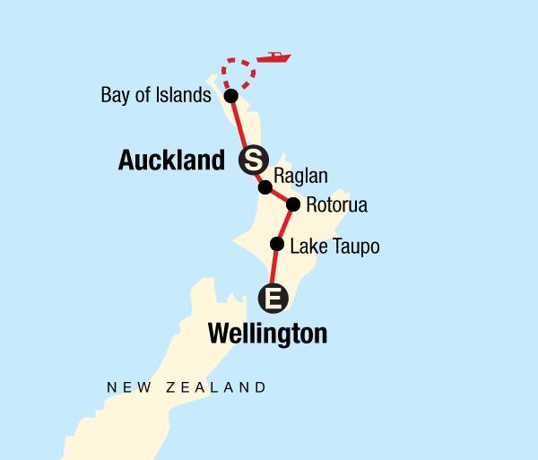 Auckland Rotorua New Zealand–North Island Encompassed Trip