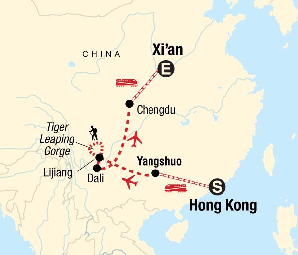 Chengdu Dali Classic Hong Kong to Xi'an Adventure Trip