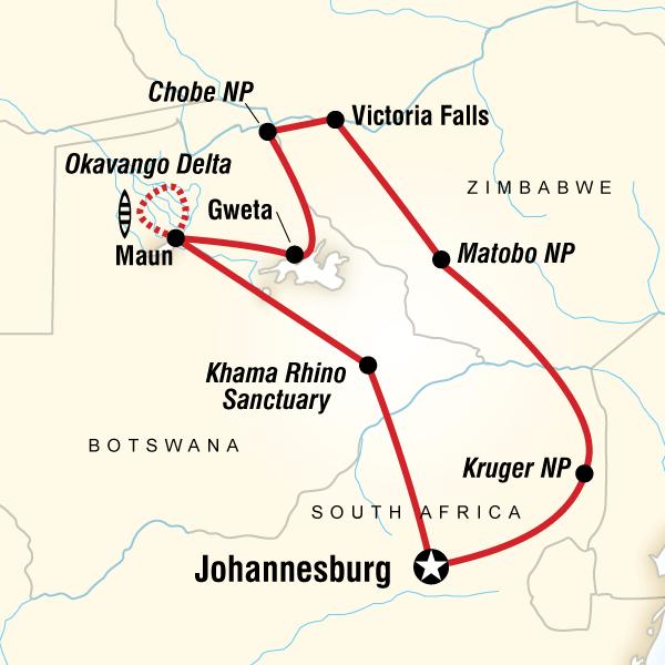 Gweta Johannesburg Southern Africa Encompassed Trip