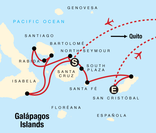 Guayaquil Isabela Island Galápagos — West, Central and East Islands aboard the Monserrat Trip