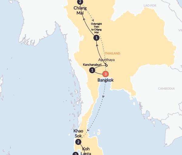 Ayutthaya Bangkok Total Thailand(Twin Room,Start Bangkok, End Phuket) Trip