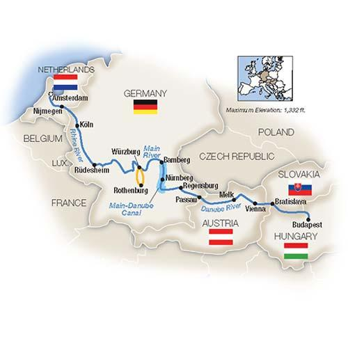 Amsterdam to Budapest by Riverboat - Southbound 2019 tour