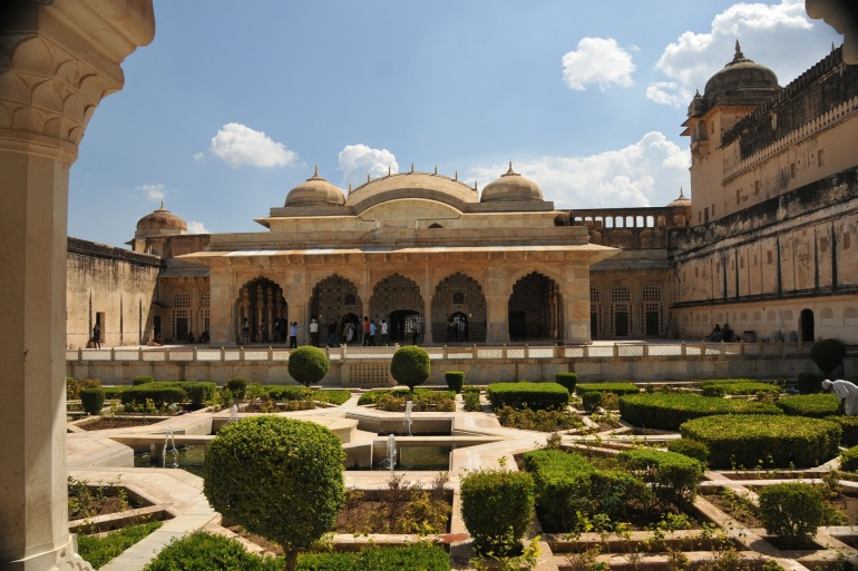 Amber Fort and Garden View of Jaipur, India