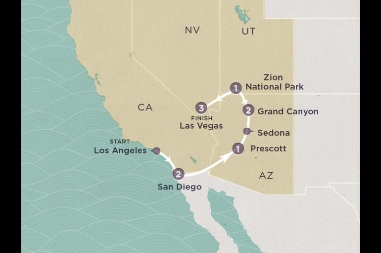 Grand Canyon Las Vegas Coast to Vegas (Apr to Nov) Trip