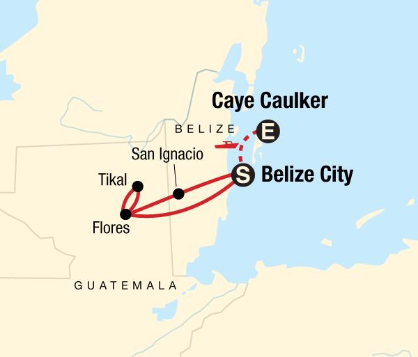 Blue Hole Caye Caulker Classic Belize & Tikal Trip