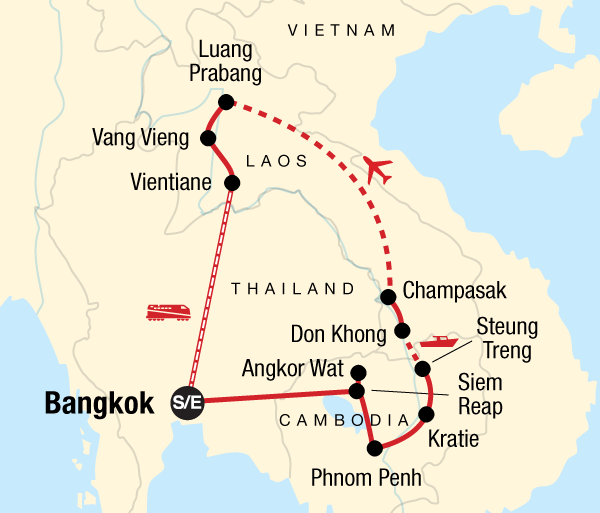 Angkor Wat Bangkok Cambodia & Laos Mekong Adventure Trip