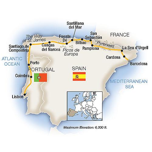 Map Of Northern Spain And Portugal.Paradors Of Northern Spain 2018