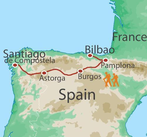 Pamplona Santiago Best of the Camino Trip