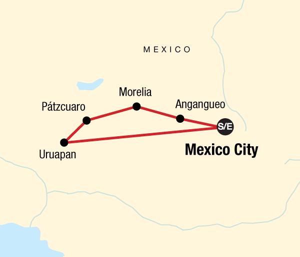 Mexico City Morelia Mexico Monarch Butterfly Trail Trip