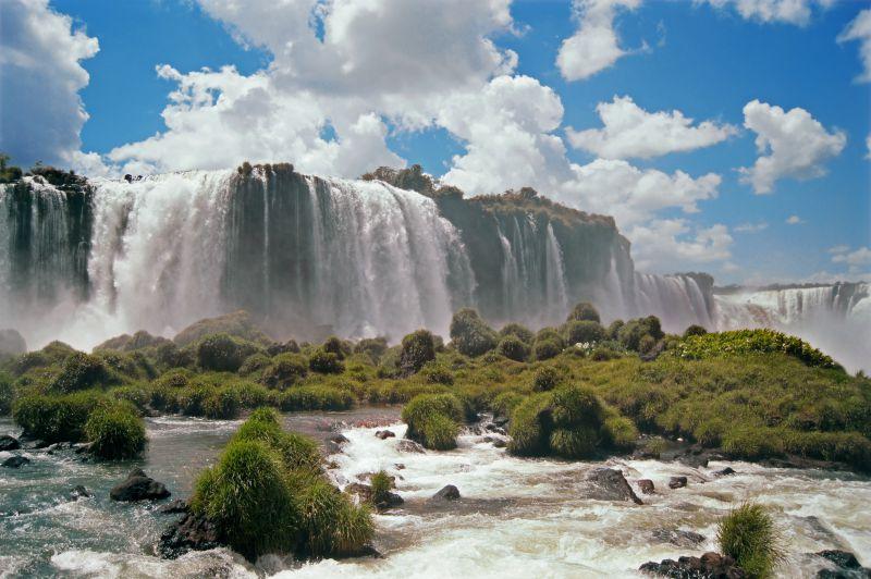 Iguana Falls in South America