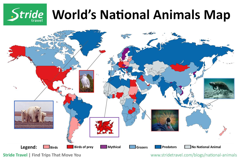 National Animals Map