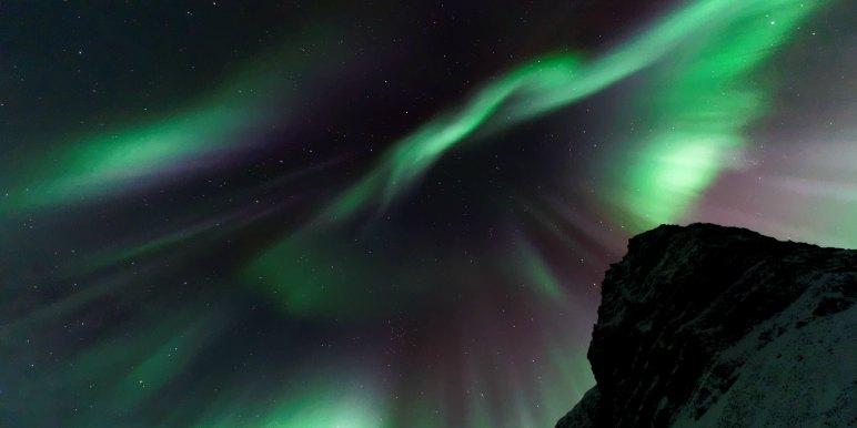 Northern Lights in Westfjiords, Iceland