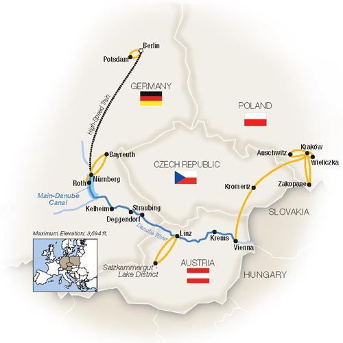 Royal Danube, Berlin & Kraków - Eastbound 2019 tour