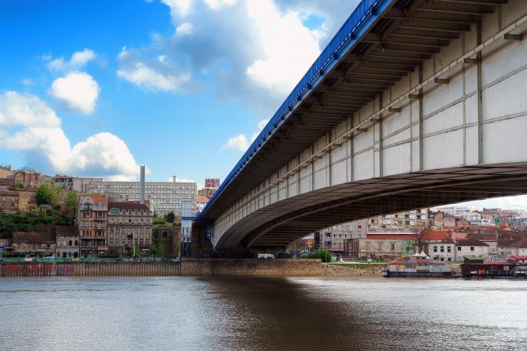 Bridge view of Belgrade, Europe_P