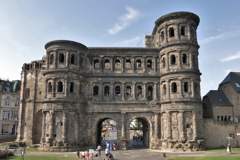 Roman city gate in Trier, Germany