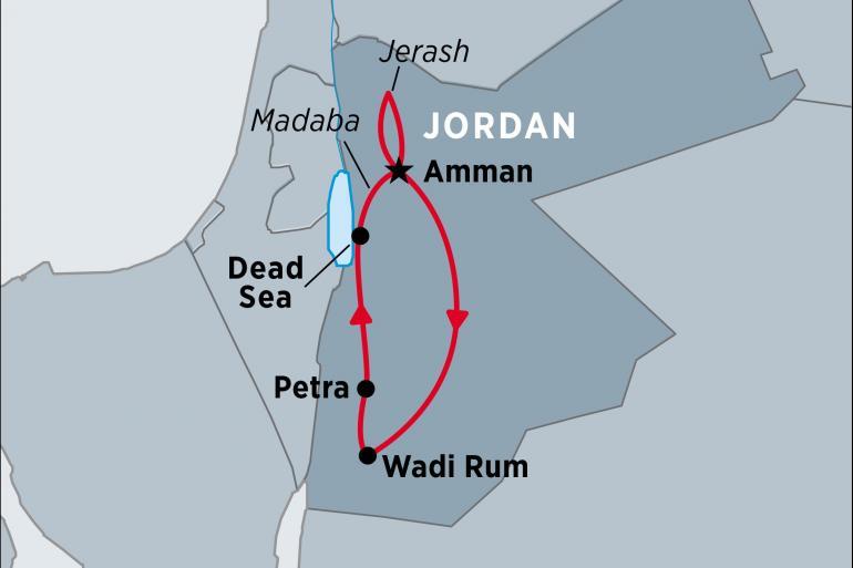 Hadrian's Wall Jerash Jordan Explorer Trip
