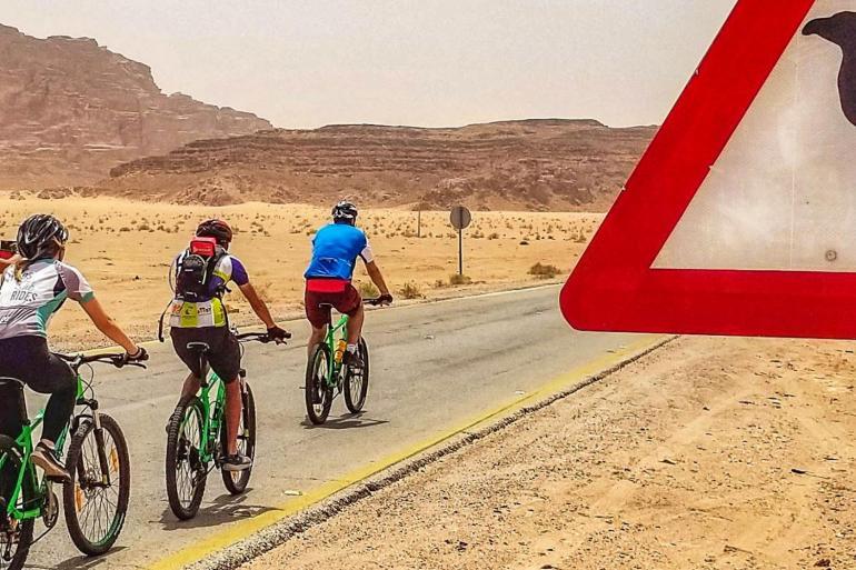 Cycle Jordan: Petra & Wadi Rum tour