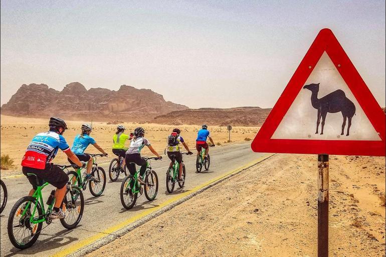 Cultural Adventure & Adrenaline Cycle Jordan: Petra & Wadi Rum package