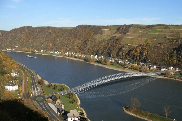 River Rhine bridge-Germany-67502-P