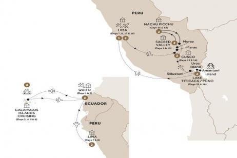 Treasures of the Incas with Quito and Galapagos Islands Cruise (Summer 2018) tour