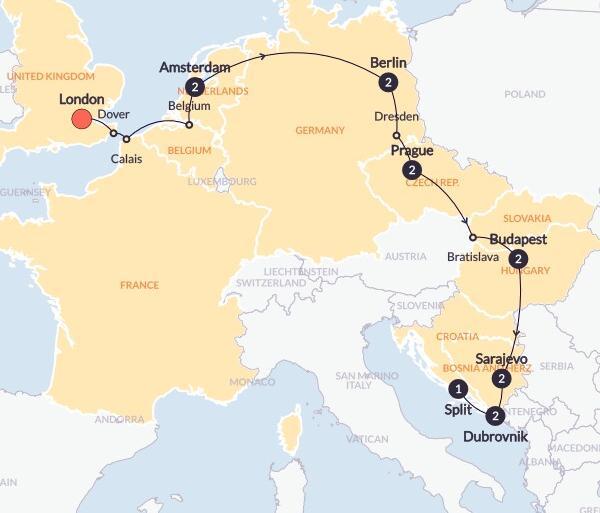 Amsterdam Berlin Road to Croatia Trip