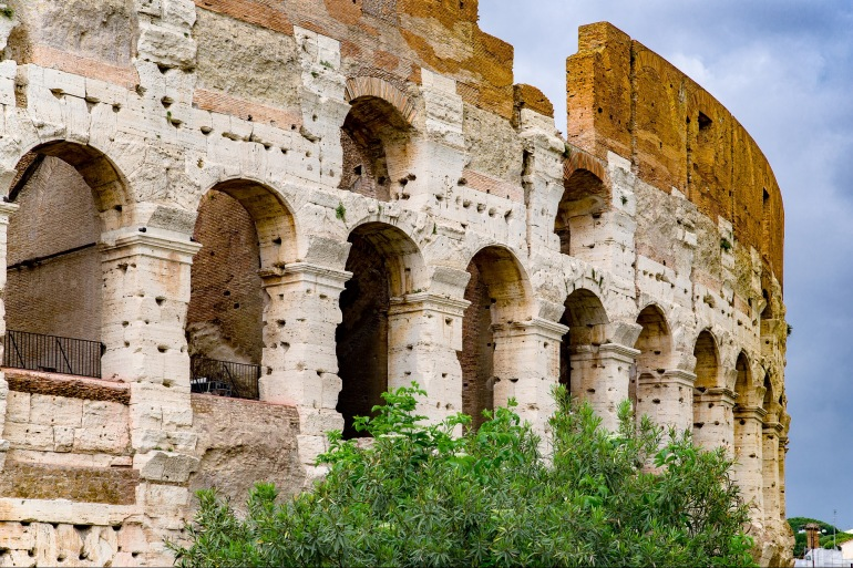 Colosseum view at Italy, Europe_P