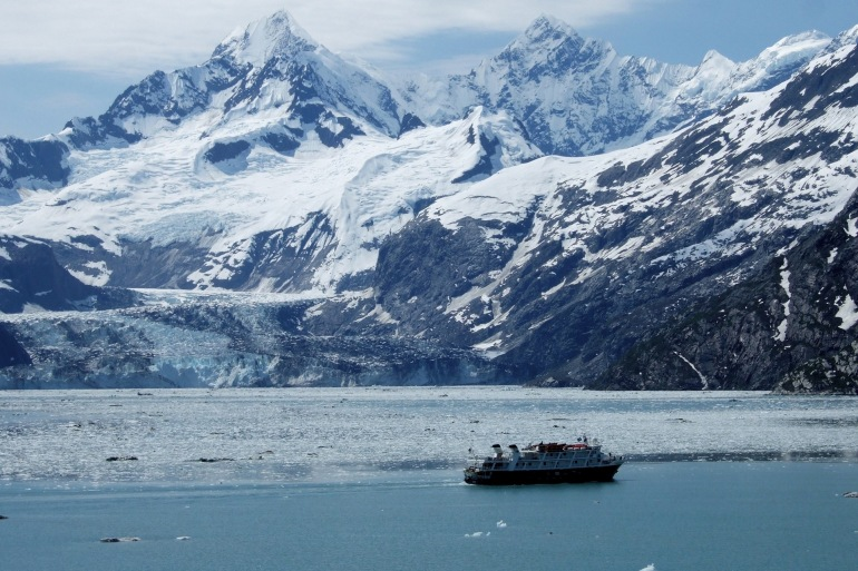 Cruise Ship View at Glacier Bay, United States