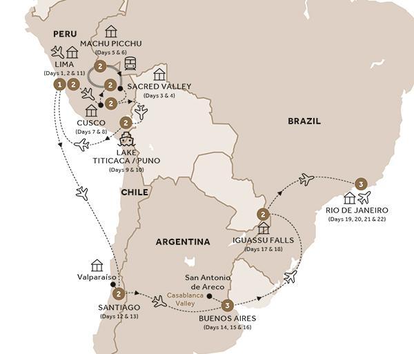 South America Map Galapagos Islands.Grand South America With Quito And Galapagos Island Cruise Luxury