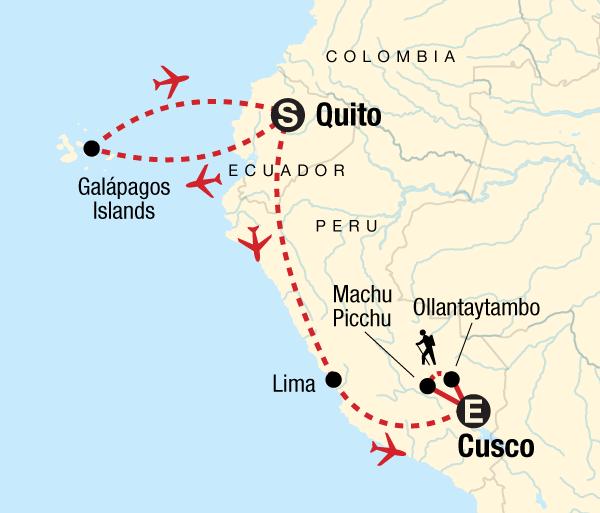 Cusco Guayaquil Galápagos Central Islands & Inca Discovery Trip
