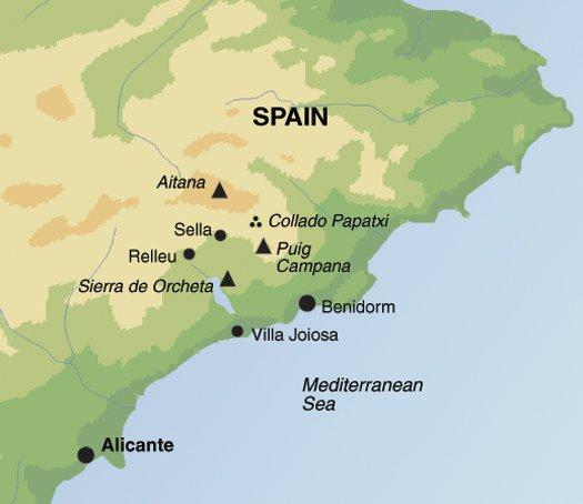 Hiking & Walking Independent Self-Guided Walking in the Sierra de Aitana package