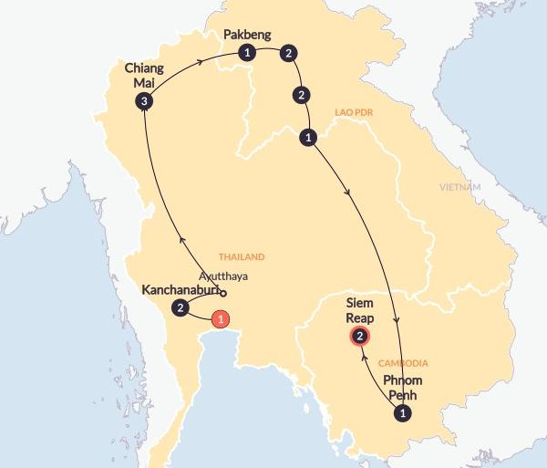 Ayutthaya Bangkok Asian Adventure(Twin Room,Start Bangkok, End Siem Reap) Trip