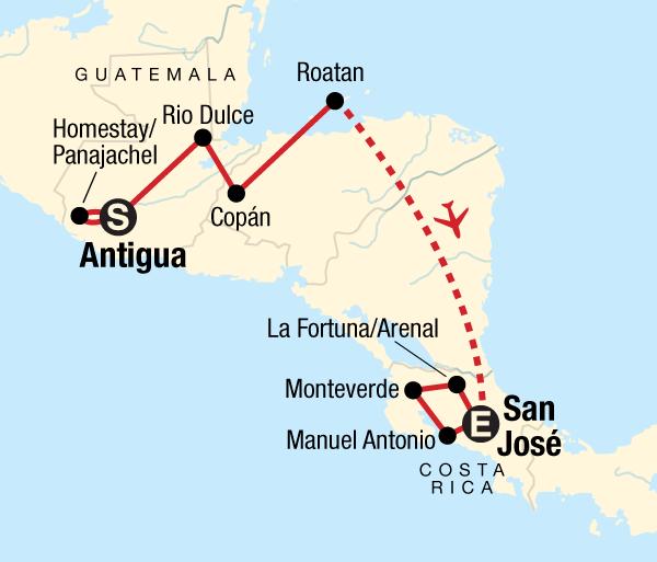 Antigua Caribbean Volcano Adventure – Antigua to San José Trip