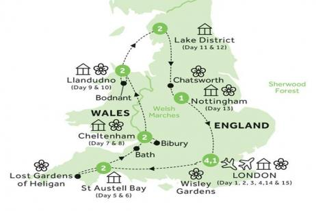 The Gardens of England and Wales with the Chelsea Flower Show (Summer 2020) tour
