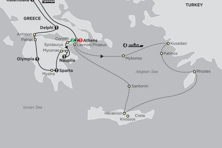 Athens Corinth Greece & Aegean Islands Cruise Trip