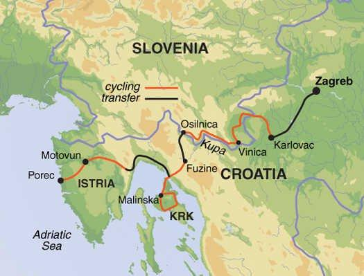 Cycling Cycling Cycle Northern Croatia & Slovenia package