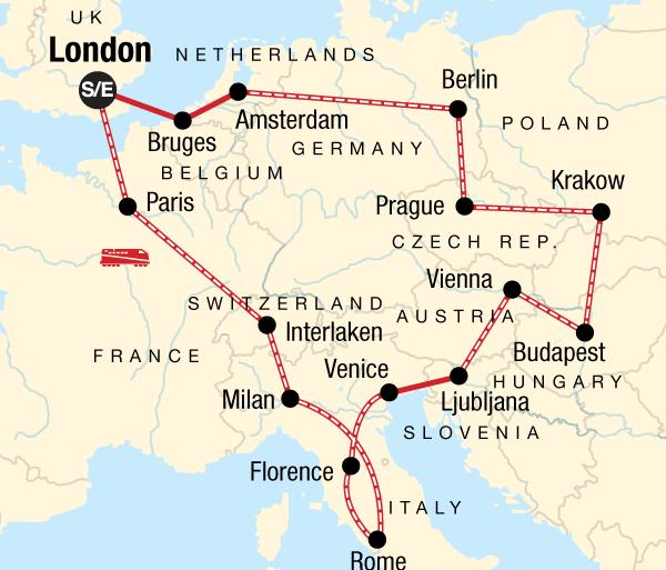 Alps Amsterdam European Trail Trip