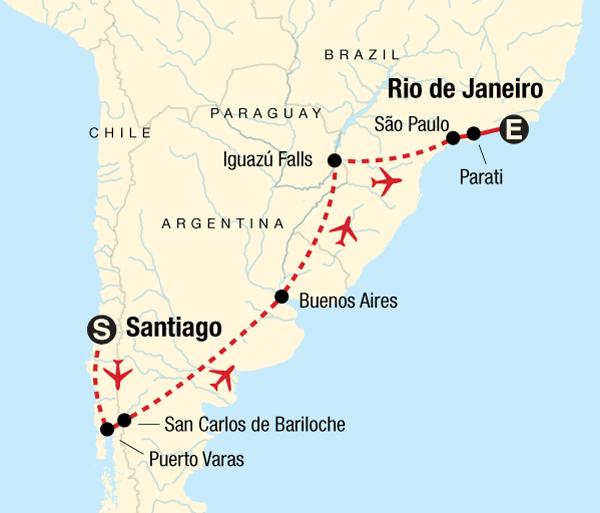 Bariloche Buenos Aires Discover Brazil, Argentina & Chile Trip