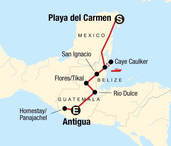 Antigua Cancún Mayan Sun–Southbound Trip